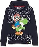 Super Mario Bros Felpa con Cappuccio Blu Marino (116)