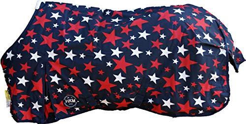 HKM 75496900.0040 Weidedecke Stars 600D mit 300g Wattefüllung, dunkelblau