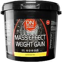 Deluxe Mass Effect Hi Calorie Weight Gainer 4kg Banana Whey Protein Casein Glutamine