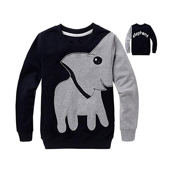 1-5 años bebé niña niño Elefante Impreso Blusa Tops Sudadera Camiseta Manga Larga Jersey 2