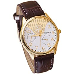 Unisex Wrist Watch - HUANS Unisex Women Men Classic Business Charming Analog Quartz Wrist Watch Brown Band+White Dial