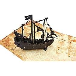 Tarjeta de felicitación con diseño de pirata.