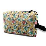 Makeup Bag Portable Travel Cosmetic Bag Maui Pop - Hula Honey - Yellow Mini Makeup Pouch for Women Girls