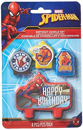 Spider-Man - Juego de Velas para cumpleaños