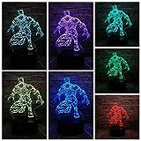 zcmzcm 3D Veilleuse Superhero 3D Lights Night Light Usb Led Lighting Cadeaux De Vacances Jouets Pour Enfants Table Touch 7 Échange De Couleurs...