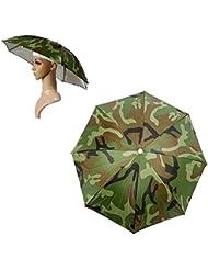 Coscelia Chapeau Parapluie Unisexe Adulte Multicolore Festival Parasol Headwear Umbrella Hat