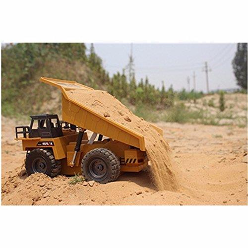 RC Auto kaufen LKW Bild 2: s-idee® S1540 Rc Kipper 6 Kanal Muldenkipper Tieflader Truck 1:18 mit 2,4 GHz kippbare Ladefläche Huina 1540*