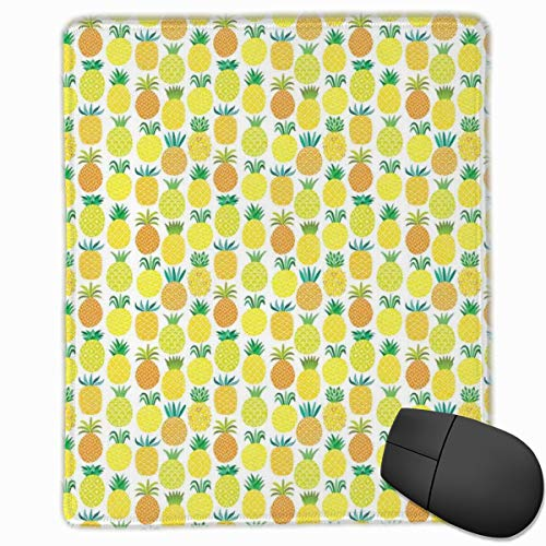 Preisvergleich Produktbild Mouse Mat Stitched Edges,  Fresh And Sweet Hawaiian Fruits In Artful Shapes Organic Garden In Summer Season, Gaming Mouse Pad Non-Slip Rubber Base