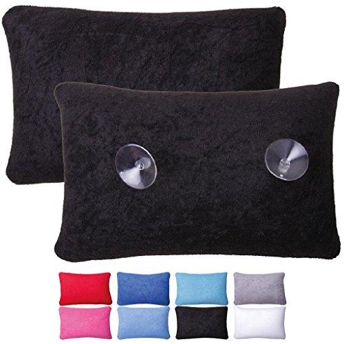 Luxus Badewannenkissen Farbe: schwarz mit Saugnäpfen Badewannen Kissen Nackenkissen mit Microperlen