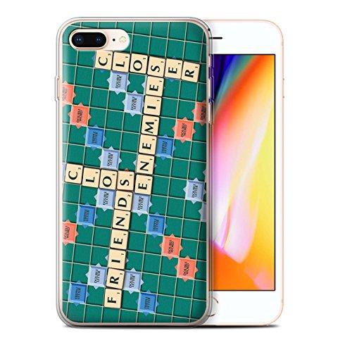 Stuff4 Gel TPU Hülle / Case für Apple iPhone 8 Plus / Pack 12pcs / Scrabble Worte Kollektion Feinde Schließen