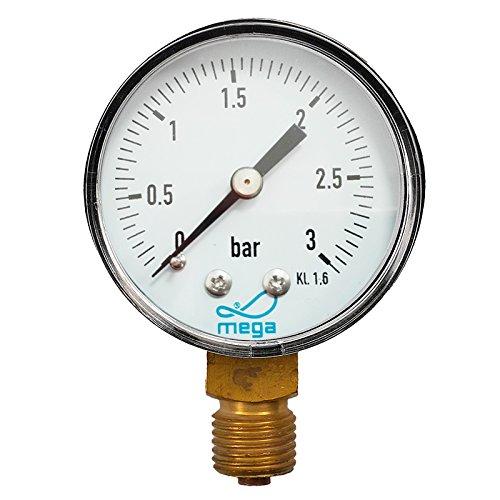 "Manometer für Sandfilter Ø 50mm 1/4\"" BSP mega"