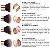 Niré Beauty Gesichtspinsel Set Makeup: Erstklassiges Gesichtspinsel, Prime & Vegan friendly