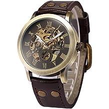 AMPM24 PMW198 - Reloj Mecánico Hombre, Correa de Cuero Marrón