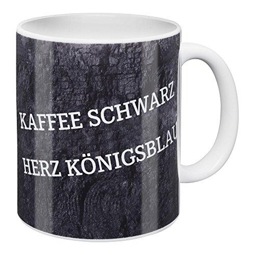 FC Gelsenkirchen-Schalke 04 eV FC Schalke 04 Tasse Kaffee Schwarz-Herz Königsblau -