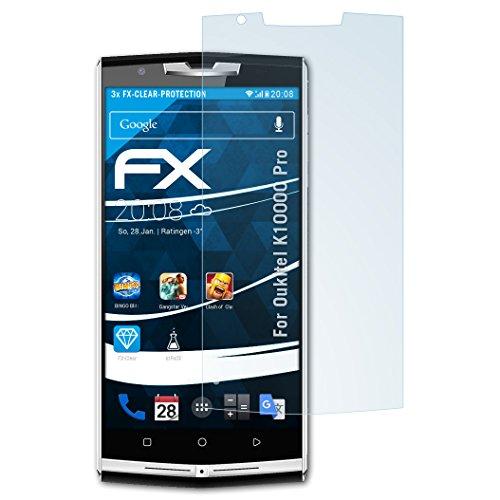 atFolix Schutzfolie kompatibel mit Oukitel K10000 Pro Folie, ultraklare FX Bildschirmschutzfolie (3X)