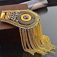 6f7fddf97a Zgsjbmh Epaulettes Cadena de eslabones con Borla Estrella del Banquete de  Boda de los Hombres Charreteras