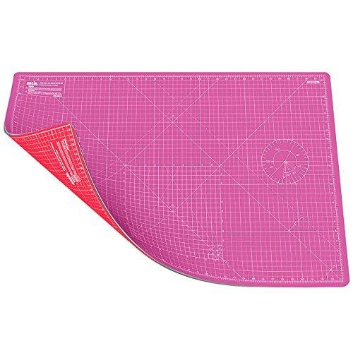 ANSIO A1 Doppelseitige Selbstheilung 5 Schichten Schneidematte Imperial / Metric 34 Zoll x 22.5 Zoll / 89 cm x 59 cm (Pink/Rot) (Pvc-diagonal Cutter)