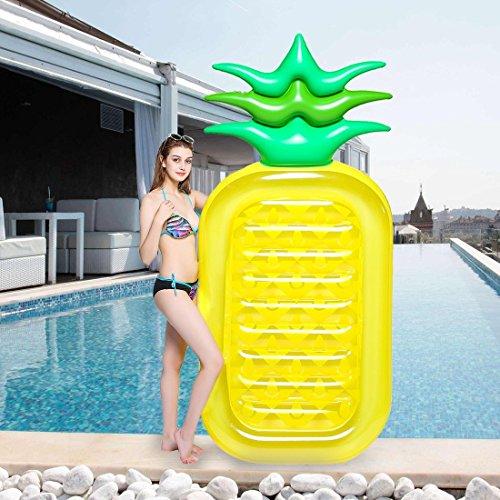 Gigante gonfiabile ananas piscina galleggiante - wishtime enormi giocattoli di nuoto giocattolo estate gonfiabile per bambini e adulti giocattolo zattera materassino per festa in piscina lettini e giochi gonfiabili