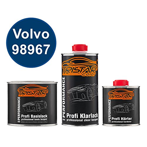Preisvergleich Produktbild Autolack Set Dose spritzfertig Volvo 98967 Packaging Blue Fln 5123 Basislack + 2K Klarlack 1, 25L