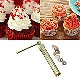 Basico Edelstahl Zuckerpaste Extruder Craft Gun Tipps Handwerk Fondant Kuchen Skulptur Polymer Clay Werkzeuge Zufällige Farbe