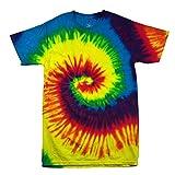 Colortone Kinder Batik-T-Shirt Regenbogen (Large) (Regenbogen)