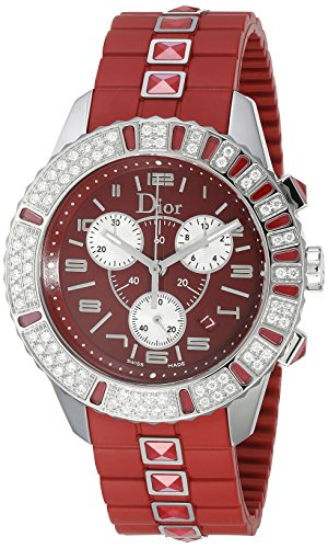 Christian-Dior-Womens-CD11431BR001-Christal-Chronograph-Diamond-Red-Dial-Watch