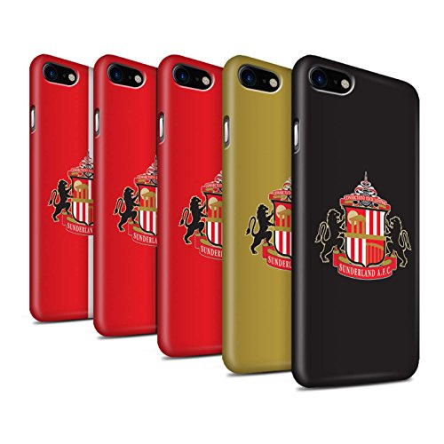 Offiziell Sunderland AFC Hülle / Matte Snap-On Case für Apple iPhone 7 / Pack 6pcs Muster / SAFC Fußball Crest Kollektion Pack 6pcs