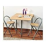 Kesper Küche Tisch mit 2Stühle Set, Holz, braun