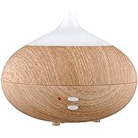 [Version Geändert] VicTsing® Luftbefeuchter Ultraschall/Diffuser Aroma/Duftspender für ätherische Öle/Luftbefeuchter Holzmaserung/Raumduft-Diffuser von Licht mit der Steckdose EU (helles Holz) -- 280ml Wasser Kapazität
