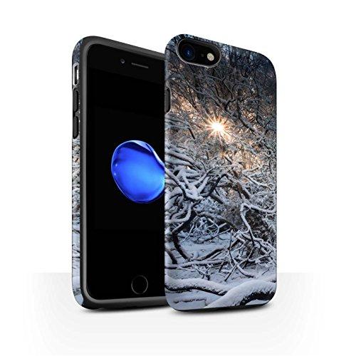STUFF4 Matte Harten Stoßfest Hülle / Case für Apple iPhone 8 / Gefrorene Bäume Muster / Winter Saison Kollektion Sonnenstrahlen