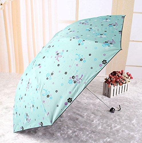 GTWP GT Regenschirm Manual Mode 3 Folding Umbrella Bleistift Regenschirm stockschirm robuste winddicht Anti-UV-Sonnenschutz Dach Sonnenschirm