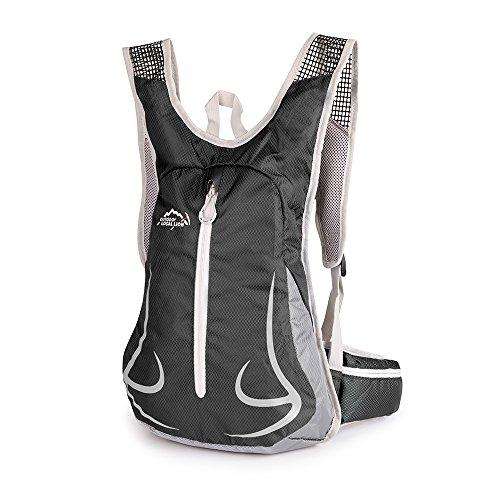 14L Outdoor Rucksack Sport Daypack Bike Vackpack Reisetasche für Reiten Wander/Trekking/Camping (7 Farben) (schwarz)