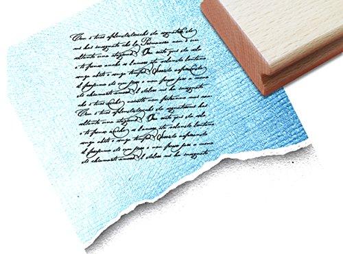 Stempel - Textstempel VINTAGE ÉCRITURE I mit alter Handschrift - Eleganter Schriftstempel für Ihr eigenes Design im Shabby chic style - Typostempel von zAcheR-fineT