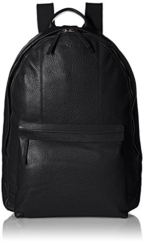 Cole Haan Men's Pebble Leather Backpack, Black, One Size Mens Black Cole Haan