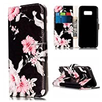 Bescita New Wallet Marble Pattern Phone Case Cover For Samsung Galaxy S8 Plus 6.2Inch (Multicolour-C)