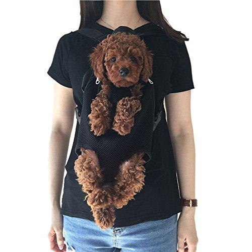 Wiiguda@Mascotas Mochila Frontal, Bolso para Perros y Gatos, Manos Libres, Salen las Patas de Mascotas de Tamano L(3,5~6,5kg)