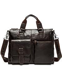 stepack marca hombres de piel auténtica bolso bandolera bolso de mano bolso bandolera para maletín