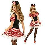 Damen Minnie Mouse Maus-Kostüm