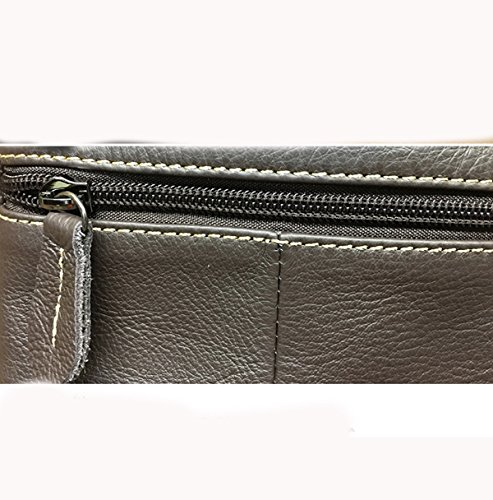 Strukturierter Kunstleder Business Casual Sack Schulranzen Außenbrusttasche Für Männer Brown