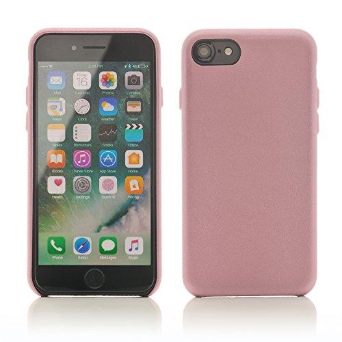 iProtect Kunstleder Schutzhülle Apple iPhone 7, iPhone 8 flexibles Case in Beige Rosa