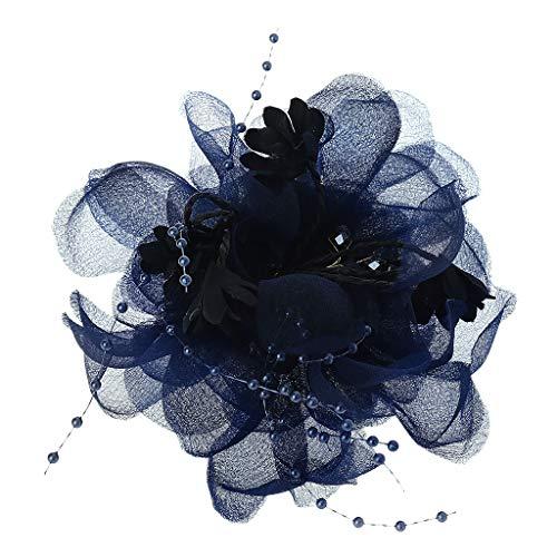 tor Brautschmuck Spitze Blume Haarspange Kunstkristall Perlen einfarbig Haarnadel Cocktailschmuck Hochzeit Party Brosche Ornamente ()