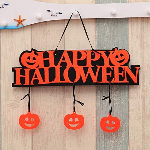 SWIDUUK Seawood Lustige Halloween-Kürbis-Party, Zuhause, Bar, Laden, Türschild, Wanddekoration, Geschenk Multi