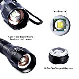 COOWOO Zoomable LED flashlights, Waterproof Switch Design,...