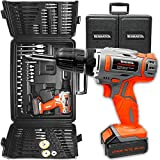 Best Cordless Drills - Terratek 89pc Cordless Drill Driver Kit, 18V/20V-Max Lithium-Ion Review