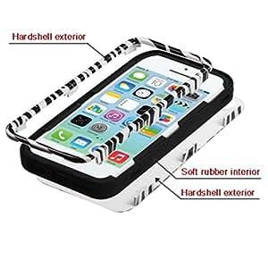 MYBAT VERGE Hybrid Protector Cover for Apple iPhone 5C/Lite - Retail Packaging - Black Zebra