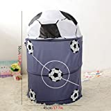 Note. Football Basketball Collapsible Laundry Basket Storage Barrels Storage Barrel Polyester Cloth Toy Organizer