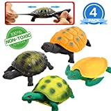 Best US Toy Baby Bath Tubs - YeoNational&Toys Turtle Toys, 5 Inch Rubber Tortoise Sets Review