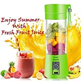 GALAXY BLUE Plastic Portable USB Electric Blender Juice Cup (Multicolour)