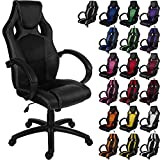 "RACEMASTER® Racing Bürostuhl ""GS Series"" Gaming Chair Gamer Stuhl in 20 Varianten Drehstuhl Gaslift SGS geprüft Schreibtischstuhl Wippmechanik Schwarz"