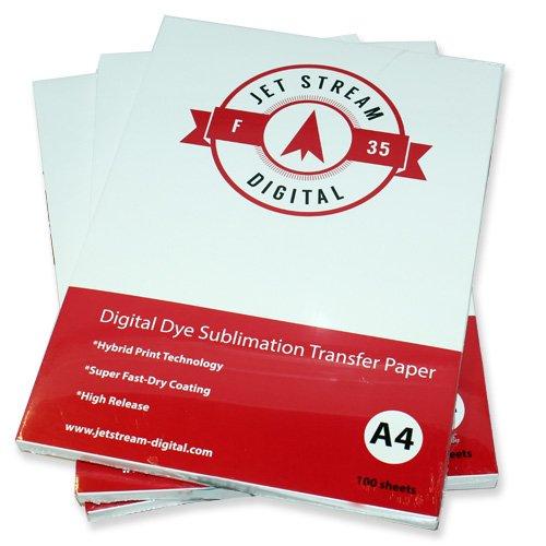 100Tabelle f 35Jet Stream Sublimation Papier 210x/Größe A4 -